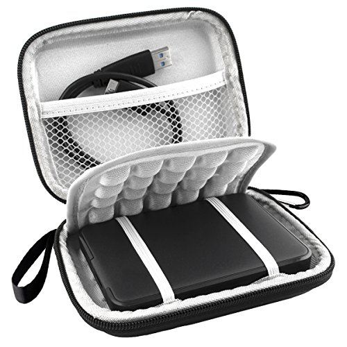 Na eva shockproof carrying travel case for wd western digital external hard drive and external Battery Pack etc. Internal dimensions: 4. 8 x 3.