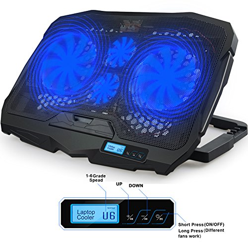 Laptop Fan Cooler with Temperature Display, Rapid Cooling