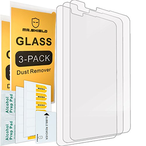 3-PACK-Mr Shield For LG G Stylo 2 / LG Stylo 2 Tempered Glass Screen Protector with Lifetime Replacement Warranty