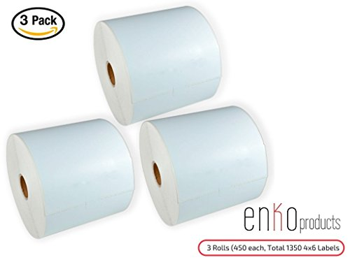 3 Rolls, 1350 Labels 4 x 6″ Direct Thermal Address & Shipping Labels