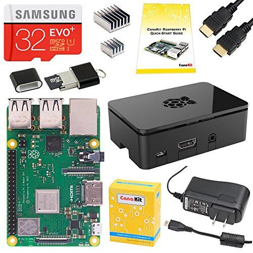 CanaKit Raspberry Pi 3 B+ B Plus Starter Kit 32 GB EVO+