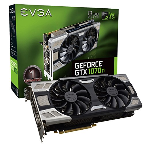 EVGA GeForce GTX 1070 Ti FTW ULTRA SILENT GAMING, 8GB GDDR5, ACX 3 0
